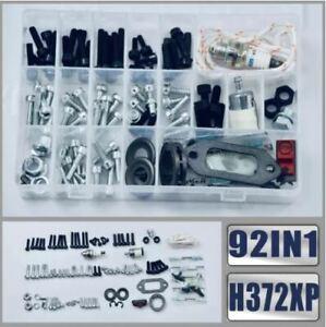 92IN1 Screws Bolts Nuts Clips Chain Tensioner Hardware Kit For Husqvarna 362 365