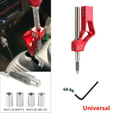 Aluminium Auto Car Shift Knob Height Lever Extension Adjustable Red with Adapter