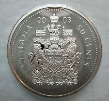 2003 CANADA 50 CENTS PROOF SILVER HALF DOLLAR COIN