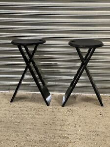 Fabulous Pair Of Suzy Folding Stools by Adrian Reed for Princes Works, 1980s