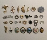Vintage Antique Pin Brooches and Pendants- Pick One! Floral Nature etc
