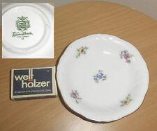 PORCELLANA piatto dessert piatti FIORELLINI Lettiera fiori Sassonia Weimar Gemarkt CORONA