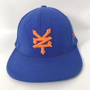 Zoo York Hat Cap Blue Flex fit baseball S/M stretch blue wool BASEBALL Hat