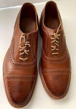 New Allen Edmonds Elgin Brown Leather Cap Toe Oxford Shoes Sz 9 D