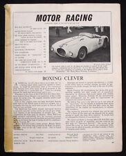 MOTOR RACING MAGAZINE MAR 1954 - NEW LEONARD-MG, FORD TEN ENGINE, MGS/MASERATIS