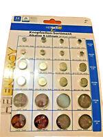 Knopfzellen Sortiment Alkaline / Lithium, LR621,LR41,LR44,CR2016.CR2025,CR2032 !