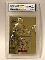 1997 Fleer Ultra Michael Jordan Court Masters Limited Edition 23kt Gold Graded