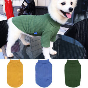 Pet Dog Clothes Puppy Cotton Warm T Shirt Soft Clothing For Small Dogs Apparel