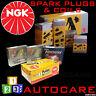 NGK Spark Plugs & Ignition Coil Set BKR6EYA-11 (4073) x4 & U3018 (48280) x2