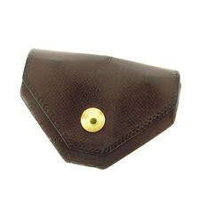 Hermes Wallet Purse Coin Purse Brown Gold Woman Authentic Used Y4705