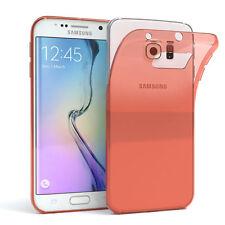 Ultra Slim Cover für Galaxy S6 Edge Case Silikon Hülle Transparent Orange