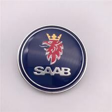 1pc Custom blue Saab 9-3 900 9000 Front Hood Emblem 50mm Oem 5289871