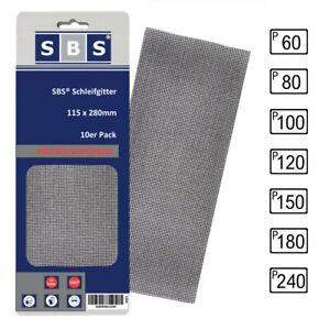 SBS® Gitterleinen 115 x 280mm Schleifgitter Korn 60, 80, 100, 120, 150, 180, 240