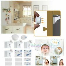 4x Serrures Magnétique Bloque Tiroir Placard Sécurité Bébé Enfant Verrou + 1 Clé