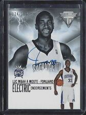 LUC MBAH A MOUTE 2013-14 TITANIUM ELECTRIC ENDORSEMENTS ON CARD AUTO #D 124/299