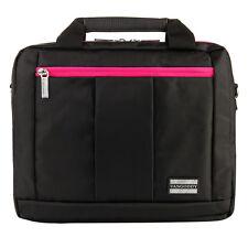 Black/Magenta Laptop Messenger Backpack Bag Case for HP 14-q070nr Chromebook 14