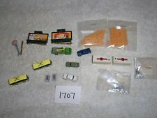 N Scale Scenery Accessories Lot #1707 Tomytec Construt. Truck Bus  Lighted Signs