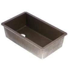 Swanstone QZ03322SB.170 Granite 1-Hole Dual Mount Single-Bowl Kitchen Sink 44-in L X 22-in H X 9-in H Espresso
