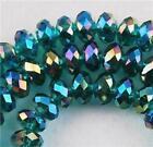 6x8 mm, bleu Multicolore ,naturel facetté cristal , perles lâches , 68 pcs