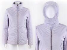 PRADA Sport Lilac Purple Hooded Zipper Front Padded Puffer Ski Jacket Coat Sz 40