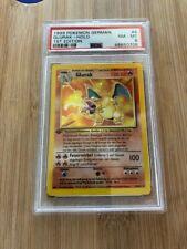Glurak (German Charizard) Pokemon Card - 1st Edition - PSA 8 NM/MT