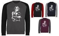 John Lennon The Beatles Iconic Rock Baseball 2 Colour Sweatshirt Sweater Jumper