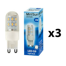 3 x MiniSun High Power Energy Saving 3W LED G9 Cool White Light Bulb A+ Bulbs