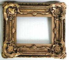 ANTIQUE 18 c MUSEUM QUALITY  HAND CARVED GILT FRAME FOR PAINTING  9 X 7 INCH