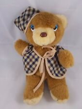 """Breden International Musical Bear Plush Wind-Up Head Moves 12"""" Has Issues"""