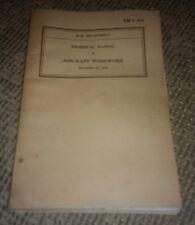 War Department 1942 Aircraft Woodwork Technical Manual TM 1-414 world war 2 ww2