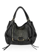 Kooba Handbags Jonnie Studded Tote Black with Gold Studs