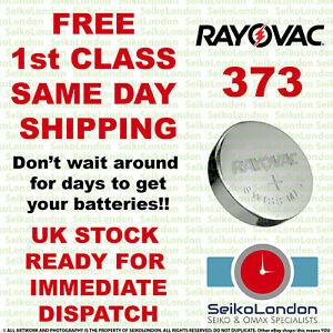1X Rayovac 373, SR916SW, SR68, SR916, SB-AJ/DJ 1.55v Battery FREE 1st class post