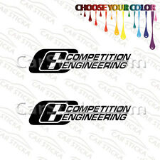 """2 of 8"""" Competition Engineering car truck bumper vinyl sticker decal die cut"""