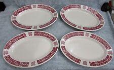 Set 4 Buffalo Restaurant Ware 9x13 Oval Platters Burgundy Asian Oriental FREE SH