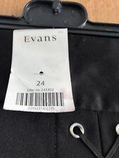 Evans Black Ladies Knee Length Skirt Size 24