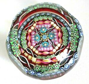 Rare Perthshire PP126A Complex Millefiori Glass Paperweight Signed /Dated 1990