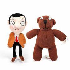 2pcs Plush Teddy Bear Mr Bean Toy Brown Stuffed Animal Gift Cartoon Figure Doll