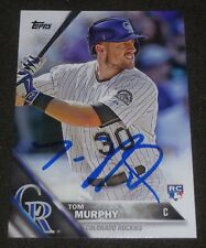 TOM MURPHY SIGNED 2016 TOPPS CARD #446 COLORADO ROCKIES AUTO BASEBALL
