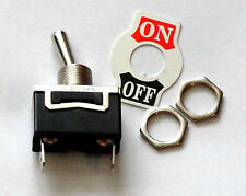 SPST Toggle Switch ON/OFF 15 AMP @ 125 VAC Spade Connectors pack of 8 K101P-8