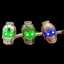 1x Metal Funny Skull with Lamp Cigarette Smoking Pipe Shisha Hookah Color Random