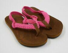 Reef Toddler Girls Pink Braided Strap Thong Sandals Shoe Size 5/6