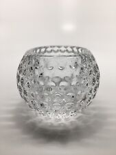 """Partylite CRYSTAL """"TEE OFF"""" GOLF BALL VOTIVE / TEA LIGHT CANDLE HOLDER 2 1/2"""""""