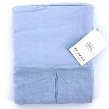 Restoration Hardware Garment Dyed Linen Sky Blue Full Size Bed Skirt Bedskirt