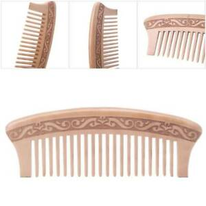 new Wooden Wide Tooth Comb Natural Peach Massage Wood Beauty Hair Care