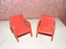 Alte Sessel-Stühle-50er Jahre-Garten-Puppenstube-Puppenhaus-Kaufladen-1:12