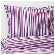 NEW IKEA RANDGRAS Full/Queen Duvet cover and 2 pillowcases, lilac, stripe