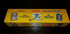1990 SCORE Baseball Cards Complete Set Box - EMPTY BOX ONLY