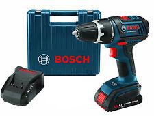 """Bosch Cordless 1/2"""" Drill/Driver Kit 18 Volt Li-Ion NEW DDS180-02-1B"""