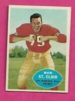1960 TOPPS # 118 SAN FRANCISCO BOB ST CLAIR  ROOKIE VG CARD (INV# C0518)