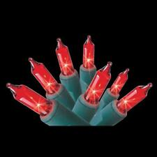 Home Accents Holiday 100 Count Red Mini Lights Green Wire Indoor/Outdoor NIB